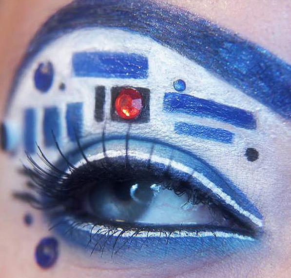 Star Wars R2-D2 eye makeup Jansara