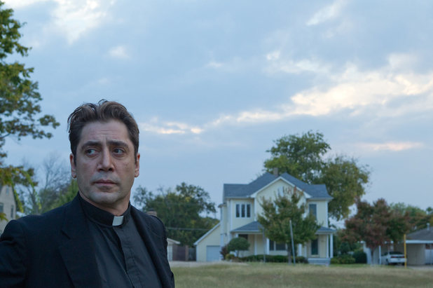 Father Quintana, a priest struggling with his faith, in To the Wonder (2012).  Image courtesy of http://www.digitalspy.com/