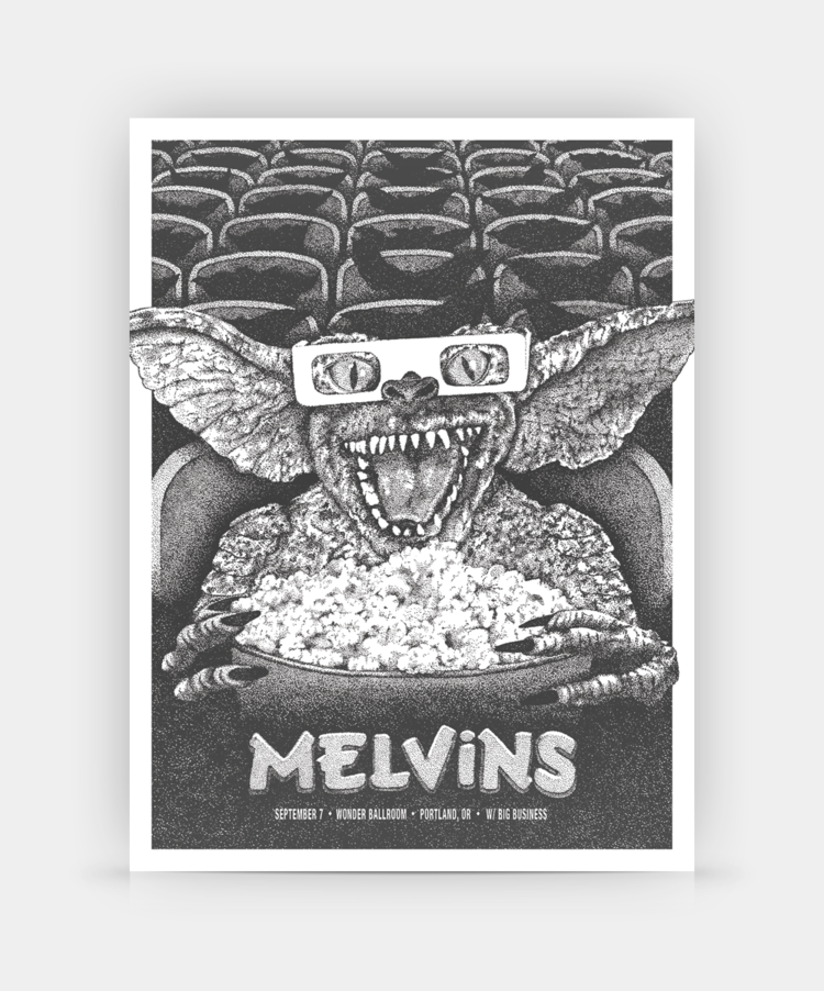 Melvins, Portland, OR (Single Color) by Anonymous Ink