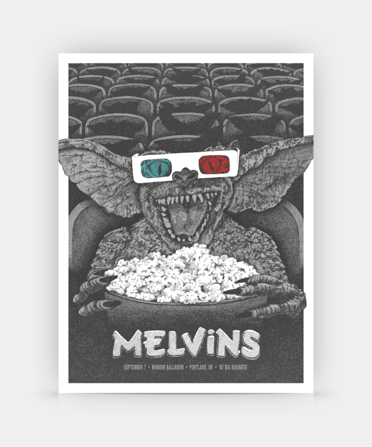 Melvins, Portland, OR by Anonymous Ink