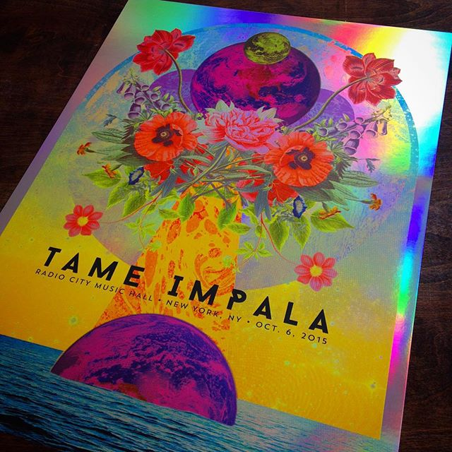 Tame Impala, NYC (Foil Variant), by Justin Helton