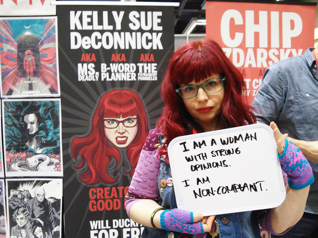Image courtesy of Buzzfeed, from 21 People in the Comics Community Share Why They're #Noncompliant (https://www.buzzfeed.com/kirkdamato/i-am-non-compliant?utm_term=.heZY99MDe#.hyqOPP3p4)